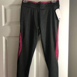 New Pink & Grey Shosho mesh cropped leggings